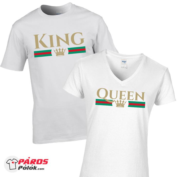 Gucci King and Queen fehér póló csomag
