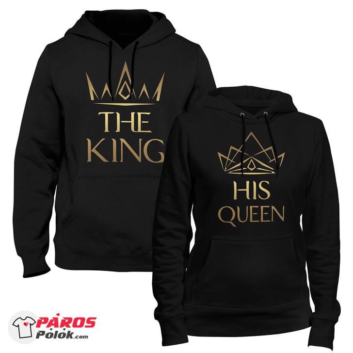 Elegant King and Queen Fekete pulóver csomag