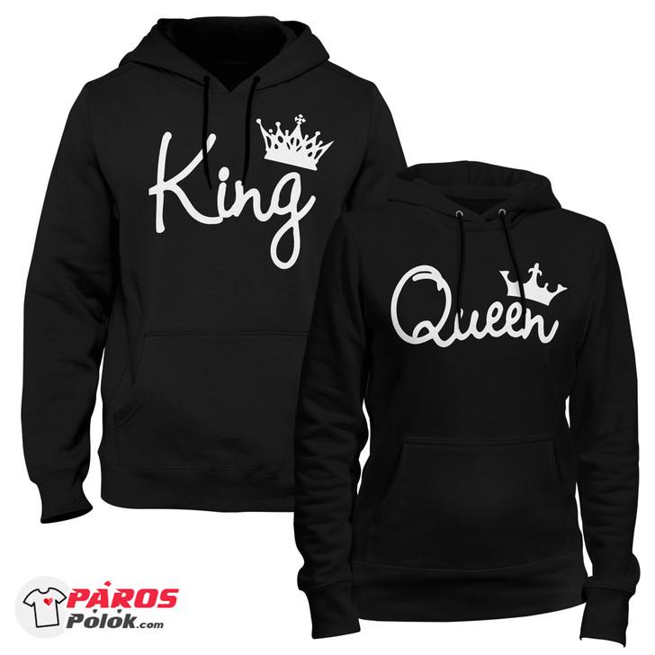 Színes Black King and Queen Fekete pulóver csomag