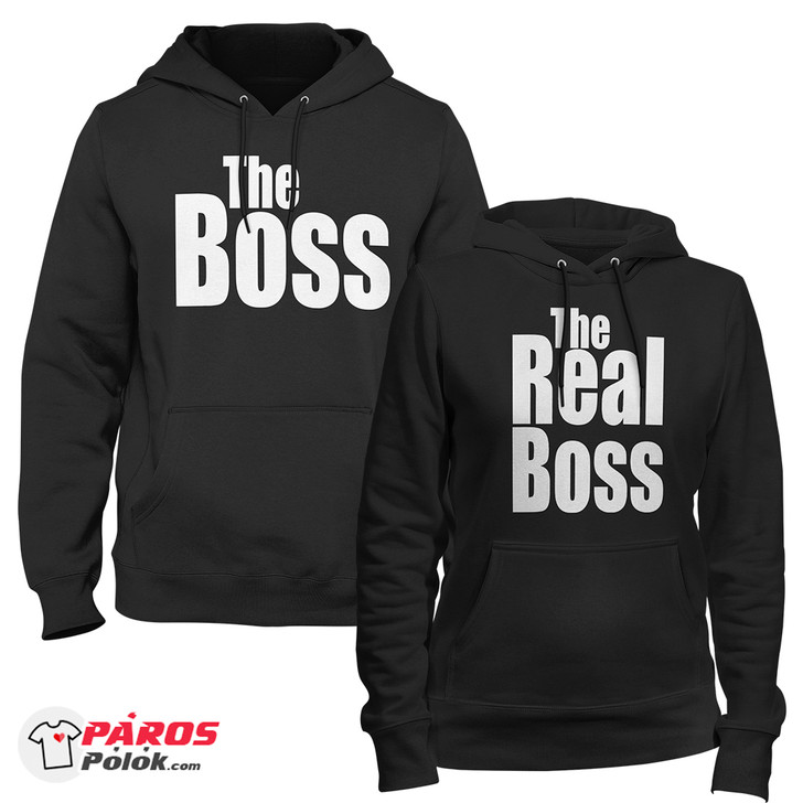 Fekete The Boss and The Real Boss pulóver csomag