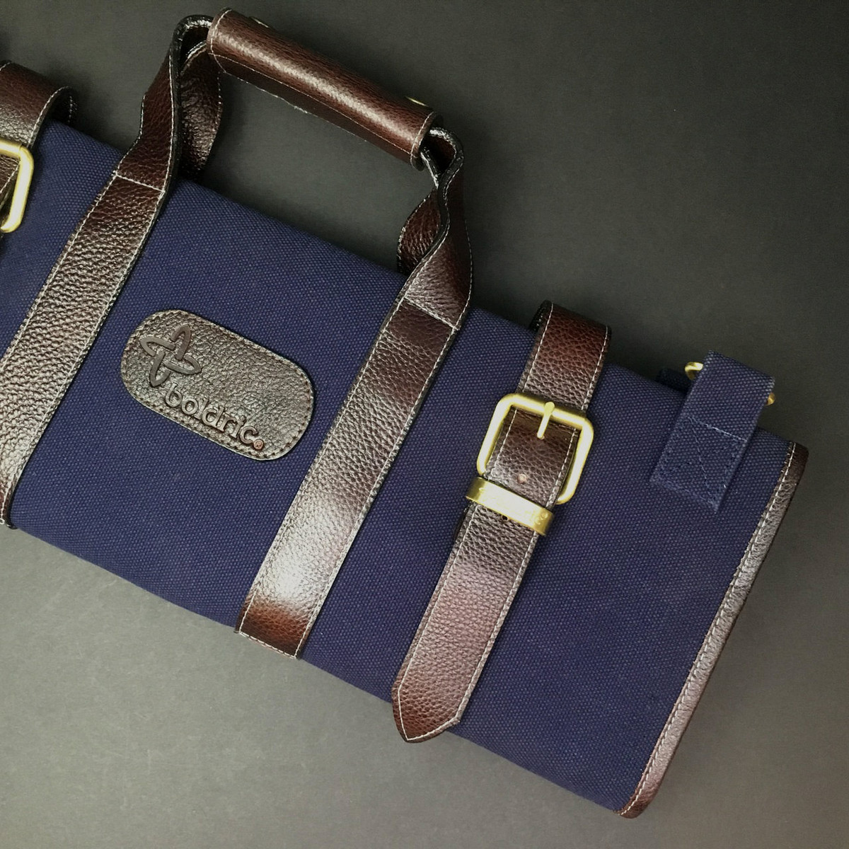 Boldric | 17 pocket knife roll | Navy