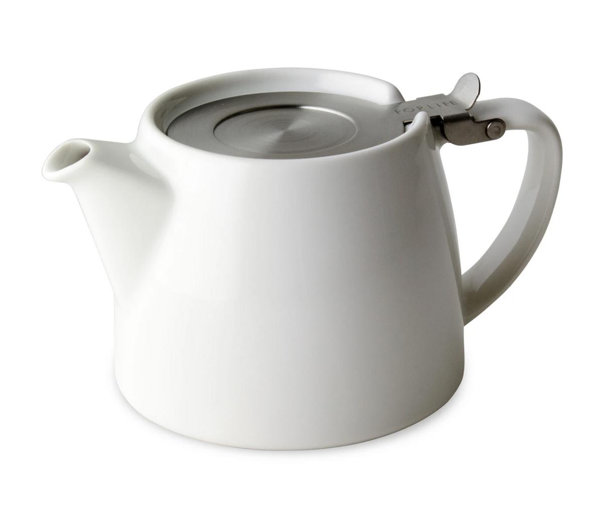 FORLIFE | Stump Teapot | 18oz | White