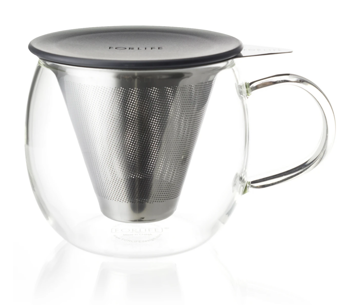 FORLIFE | Lucidity Glass Brew-in-Cup w/ Infuser | 12oz