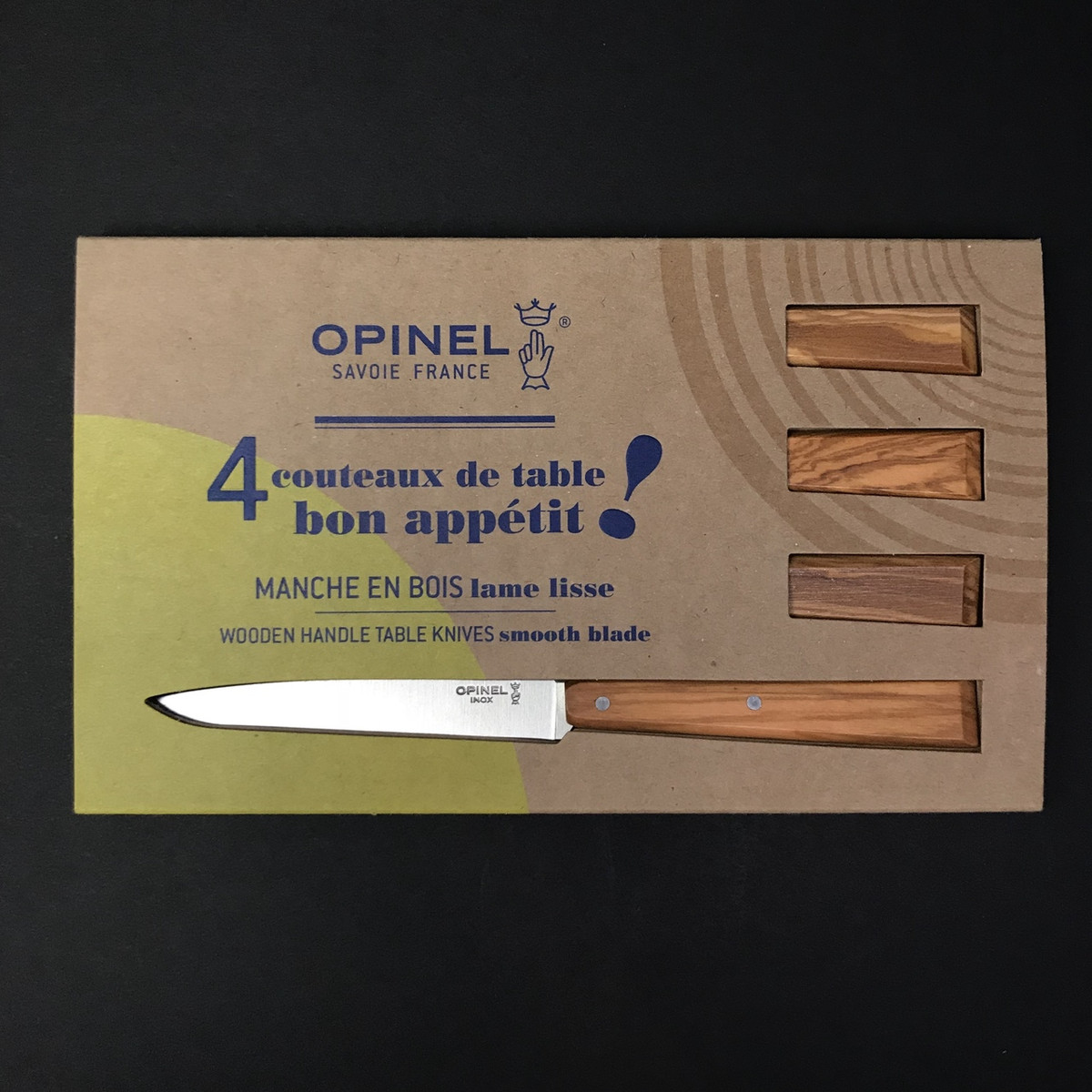 Opinel | Table Knives | 4 Set | Olivewood