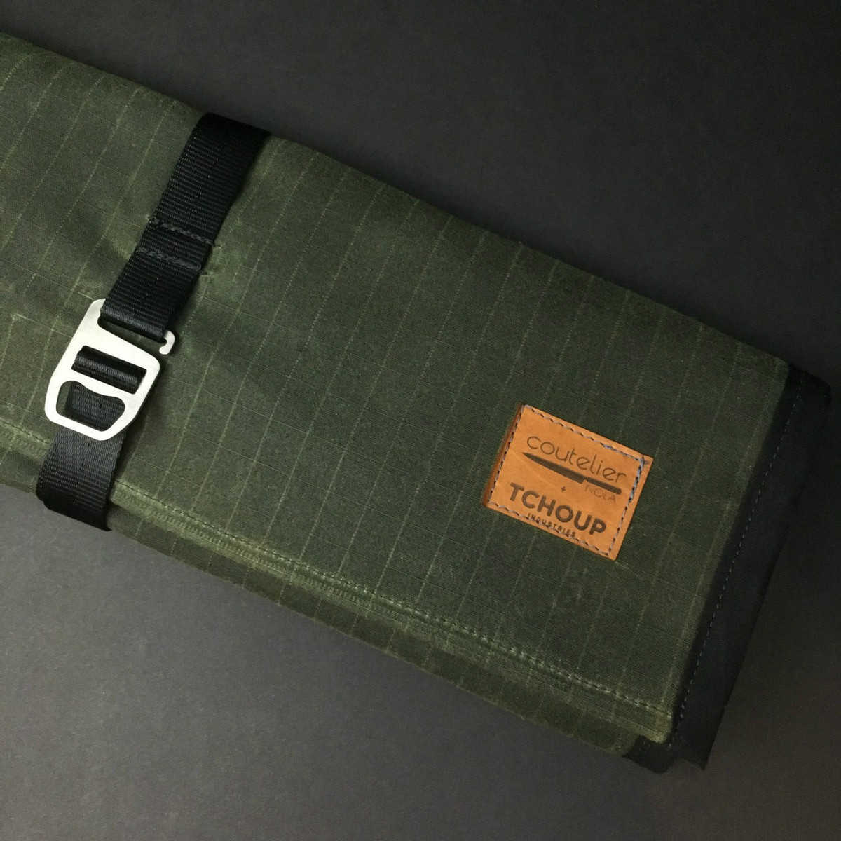 Tchoup Bags | Knife Roll | 9 Pocket | Green