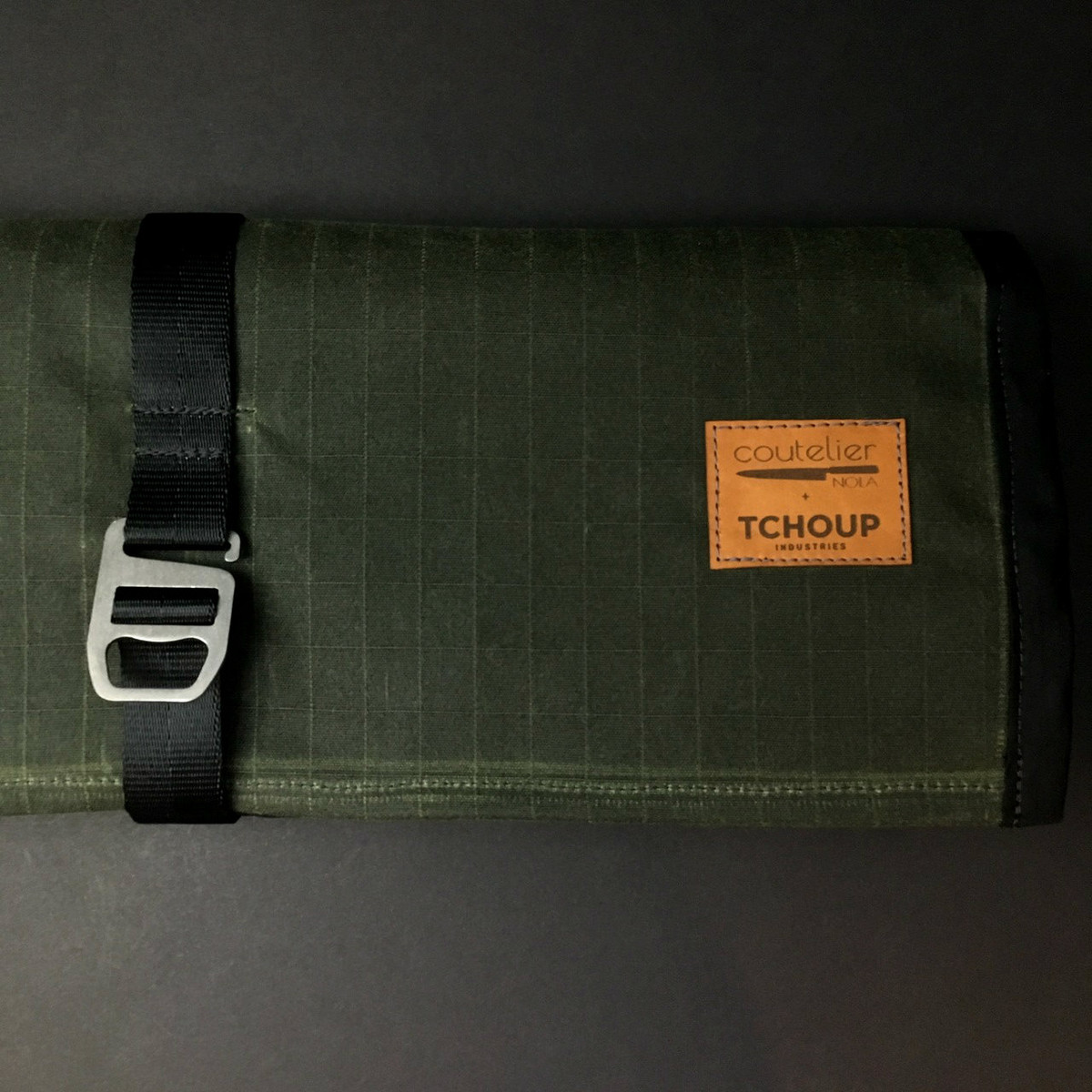 Tchoup Bags - Knife Roll - 9 Pocket - Green