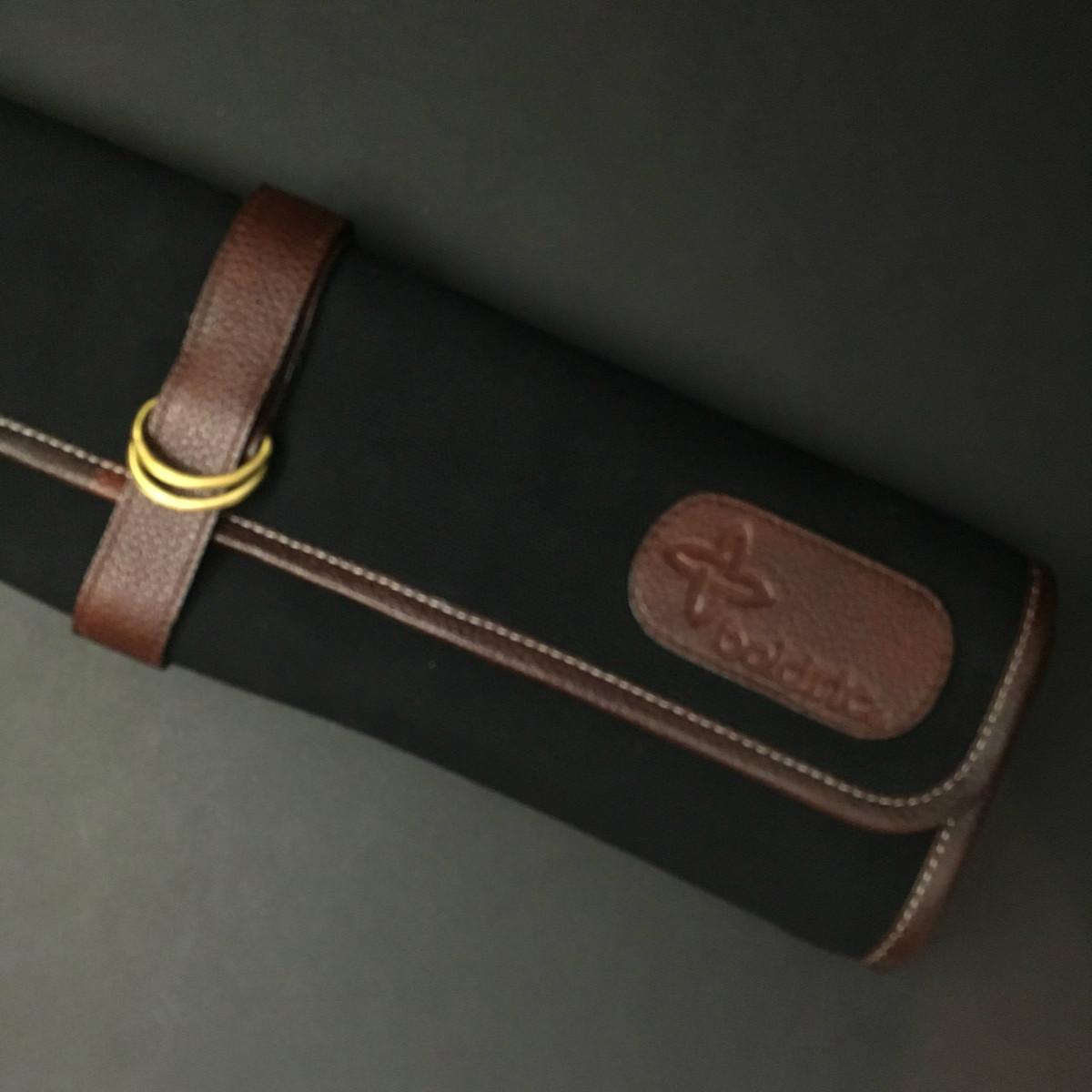 Boldric   7 pocket knife roll   Black