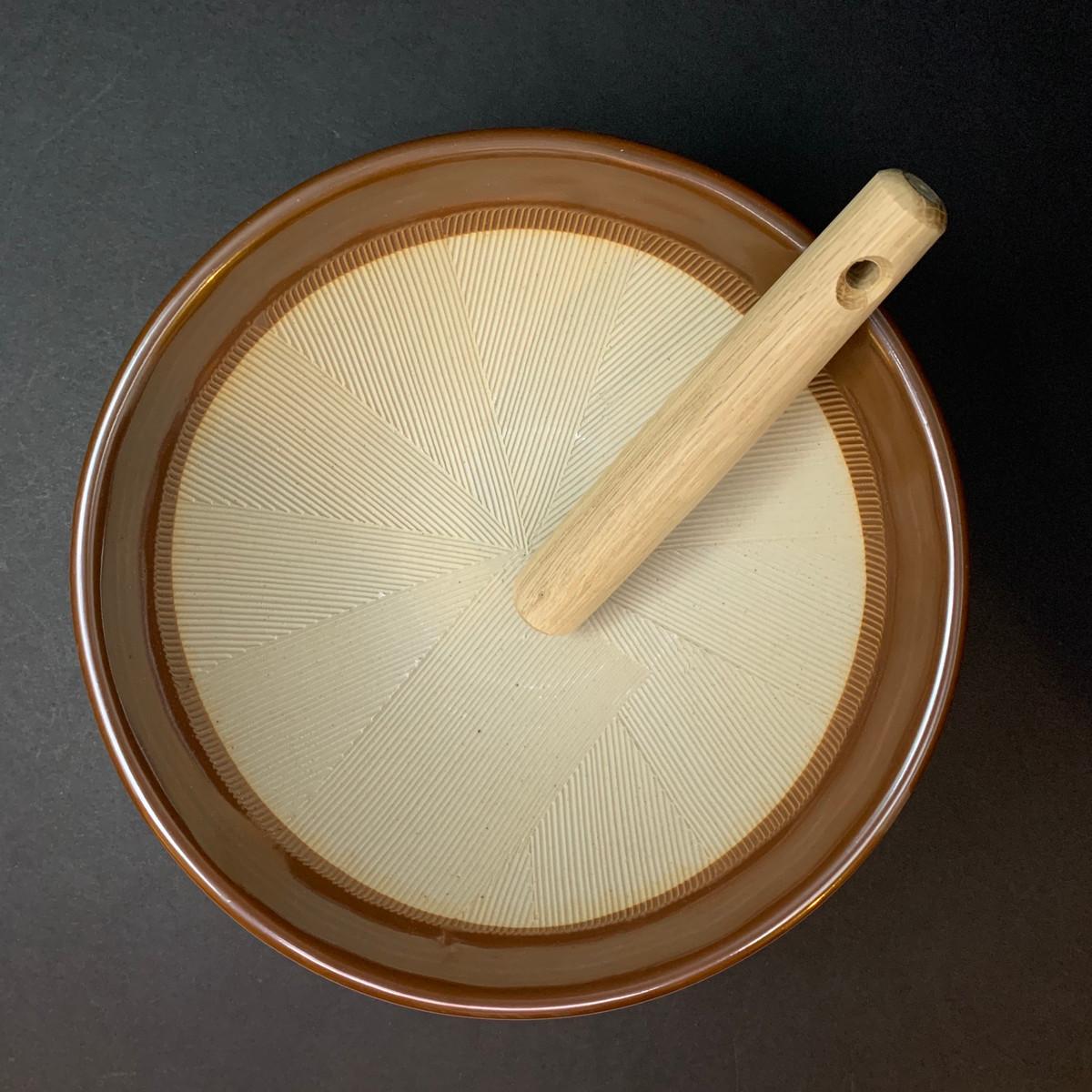 Suribachi Bowl + Surikogi Pestle | Large