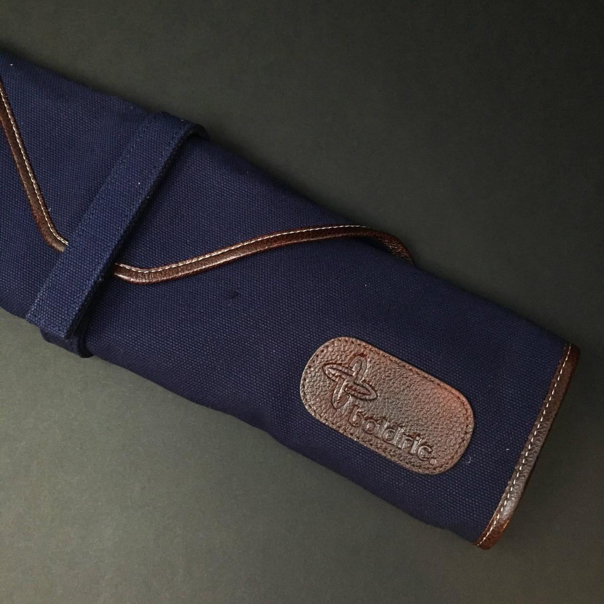 Boldric | 6 pocket knife roll | Navy