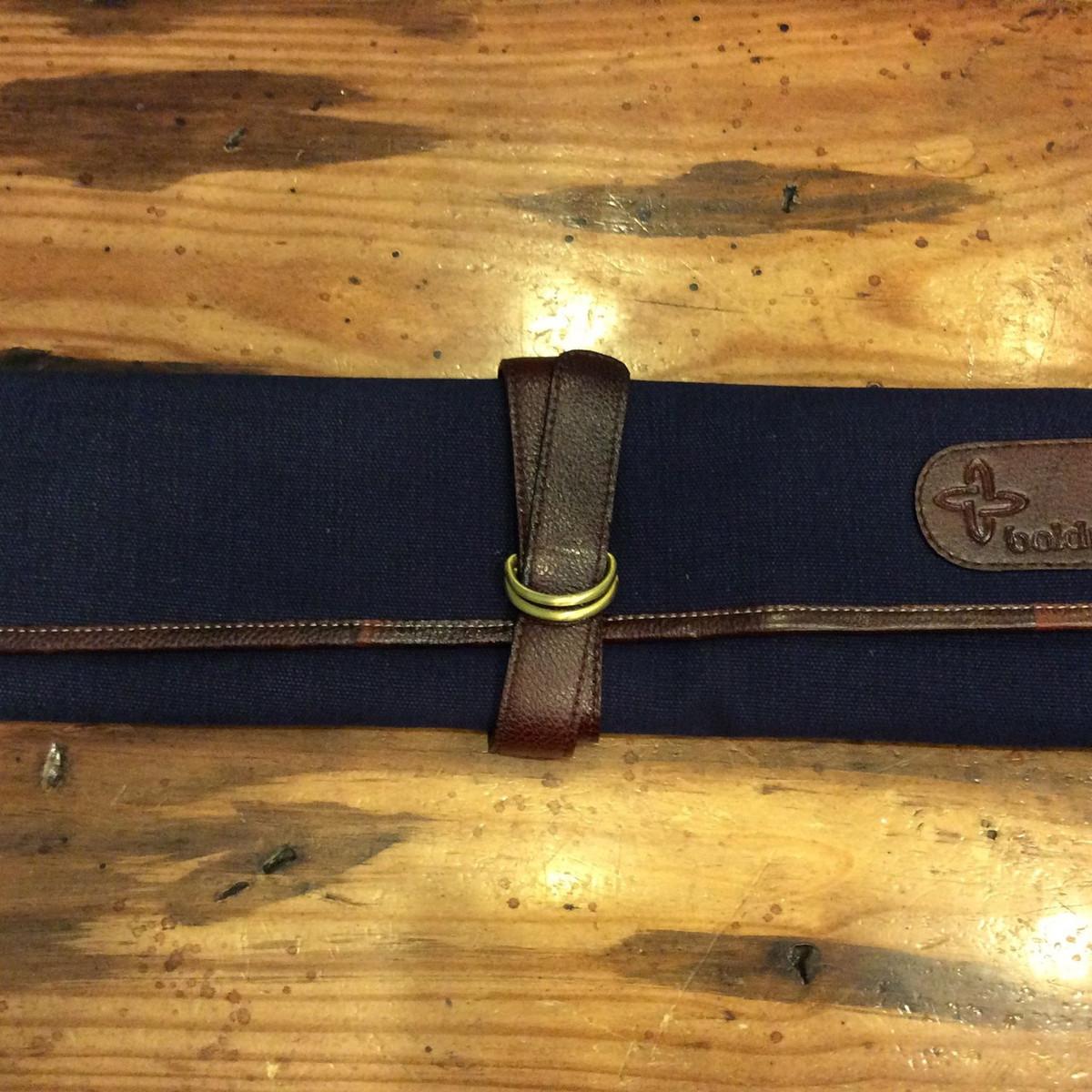 Boldric | 7 pocket knife roll | Navy