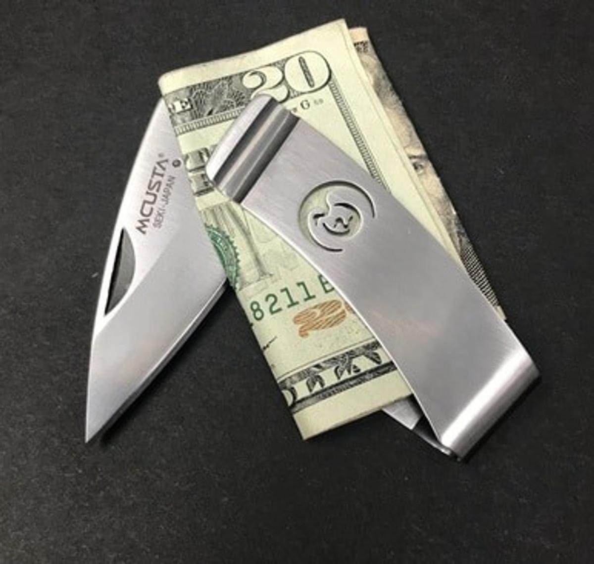 "MCUSTA - Money Clip ""Kamon"" - Crane"