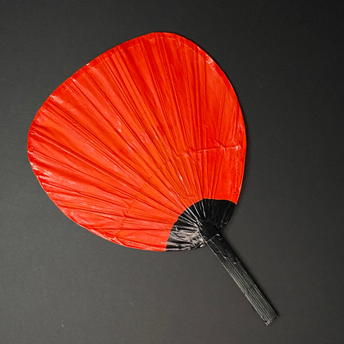 Konro Fan | Bamboo | Red