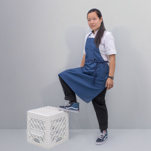 Tilit | Wrinkle Free Apron | French Blue