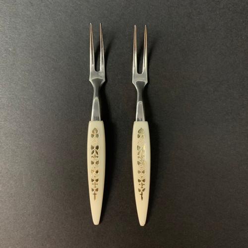 Vintage Japanese Seafood  Forks  |  2 Set