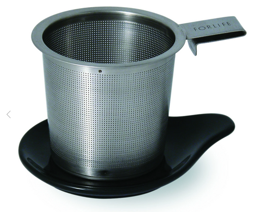 FORLIFE | Hook Handle Tea Infuser | Black Graphite