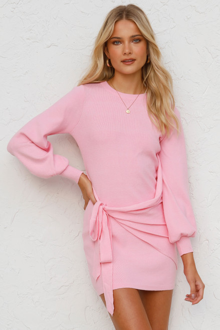 Steph Knit Dress PINK
