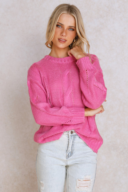 Candice Knit Top PINK