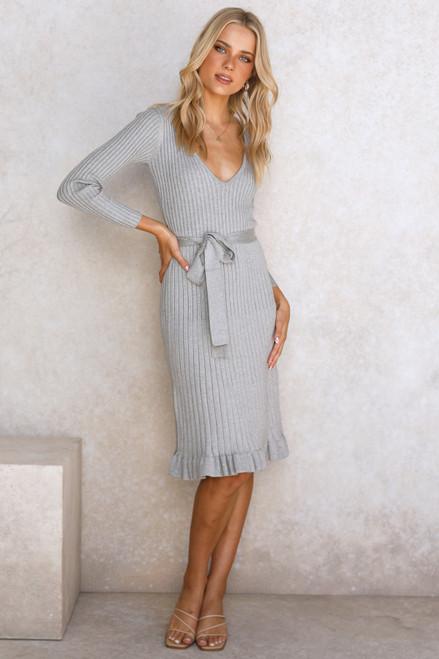 Monroe Midi Dress GREY
