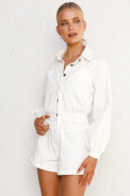 Angie Playsuit WHITE