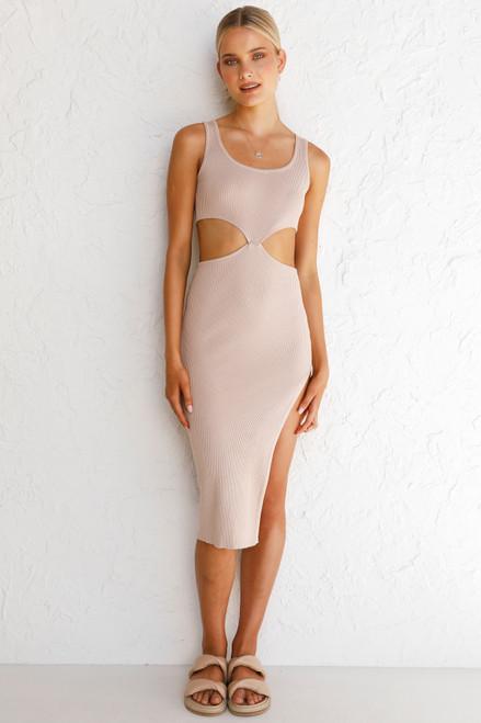 Adine Midi Dress NUDE
