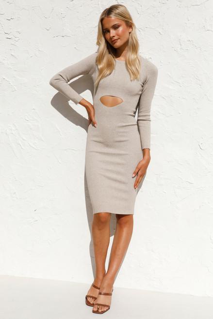 Idina Dress OATMEAL