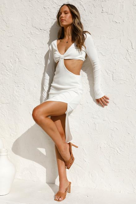 Tina Midi Dress WHITE