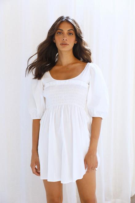 Abbey Mini Dress WHITE