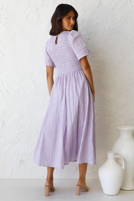 Macy Midi Dress LILAC