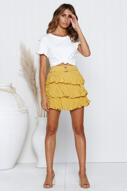 Larissa Mini Skirt MUSTARD