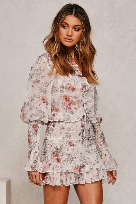 Dreamz Skirt CREAM FLORAL