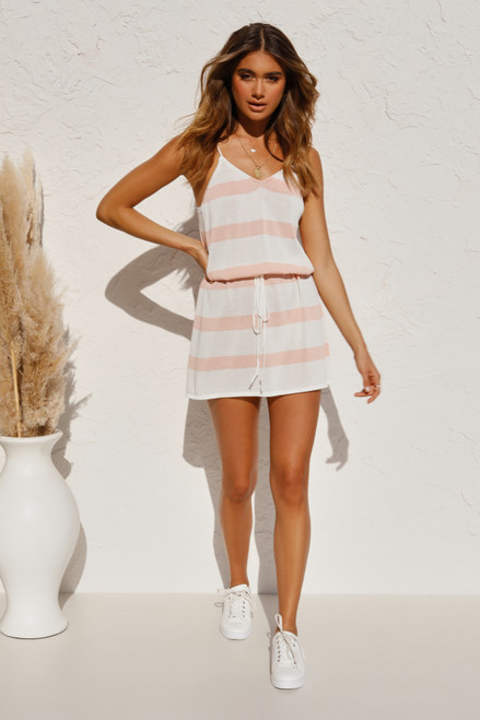 Mandy Dress PEACH STRIPE