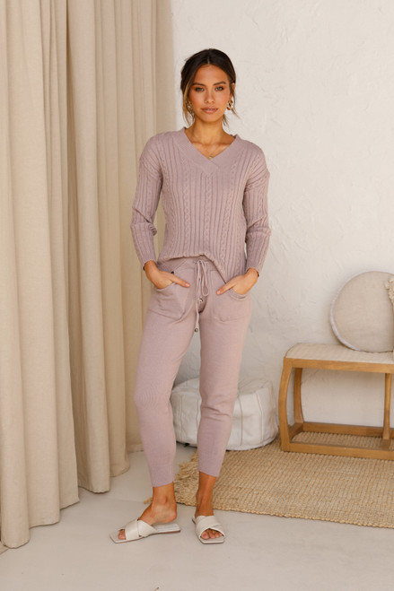 Hartley Knit Pants MAUVE