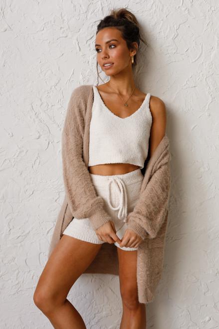 Arya Knit Shorts CREAM