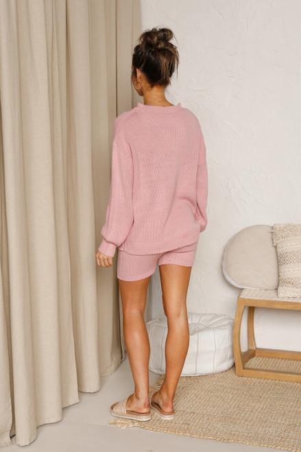 Josie Knit Shorts PINK