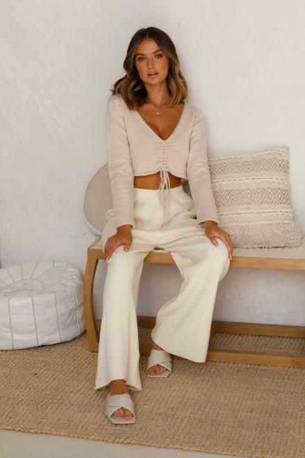 Adriana Knit Top BEIGE