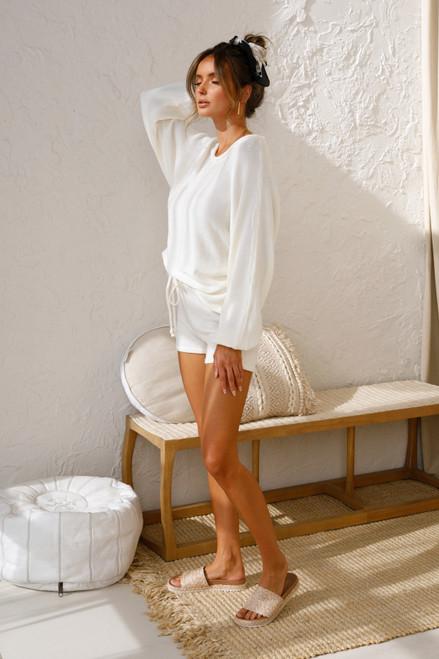 Brandy Knit Shorts IVORY