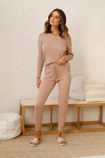 Hartley Knit Top CAMEL