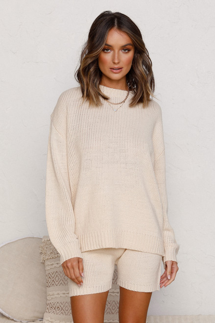 Josie Knit Shorts BEIGE