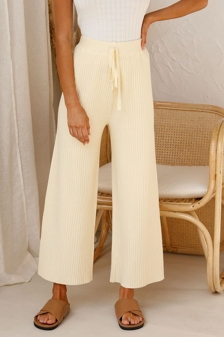 Levi Knit Pants CUSTARD
