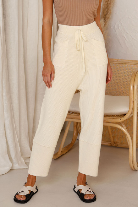 Miguel Knit Pants CREAM
