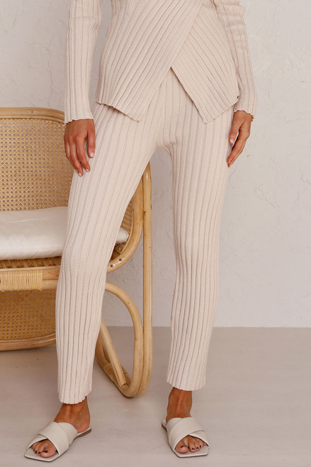 Allis Knit Pants BEIGE