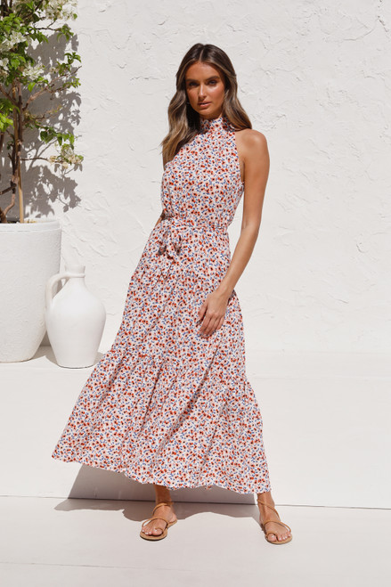 Avianna Maxi Dress WHITE FLORAL