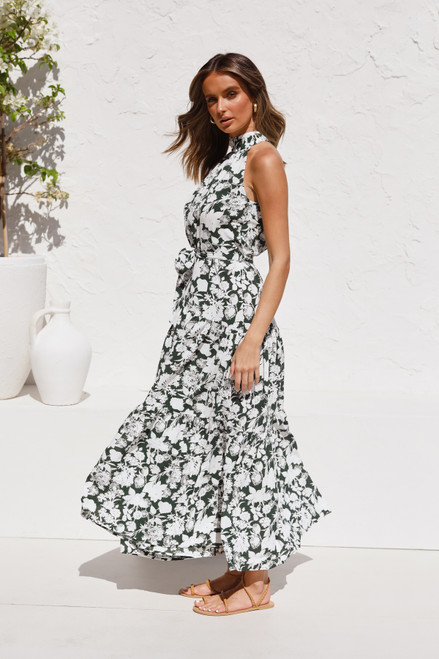 Avianna Maxi Dress FOREST GREEN