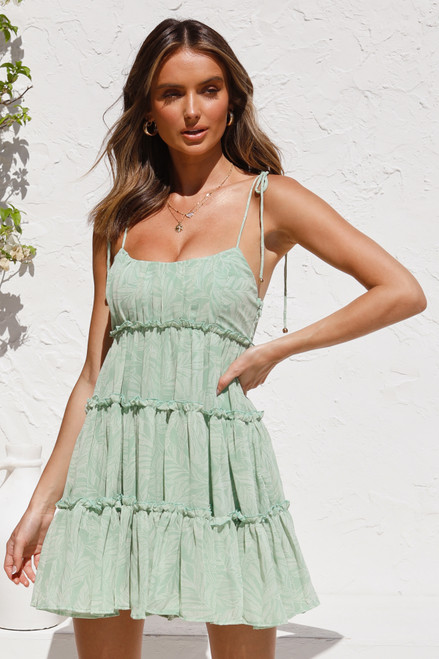 Issidora Mini Dress GREEN