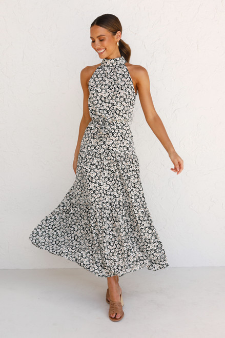 Avianna Maxi Dress BLACK FLORAL