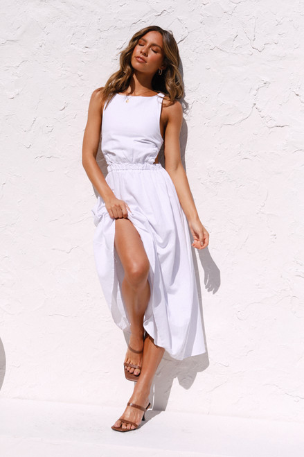 Geneva Midi Dress WHITE