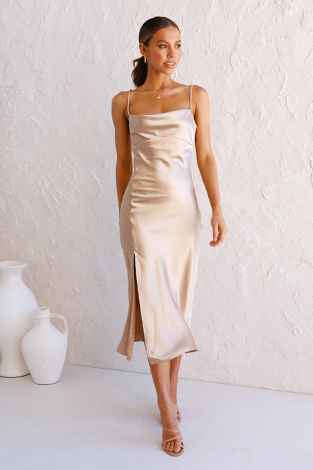 Sian Midi Dress CHAMPAGNE