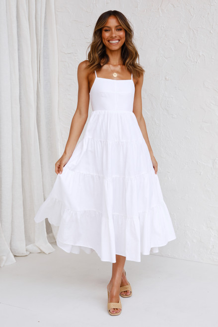 Shayla Midi Dress WHITE