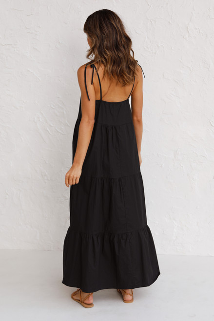 St Tropez Maxi Dress BLACK