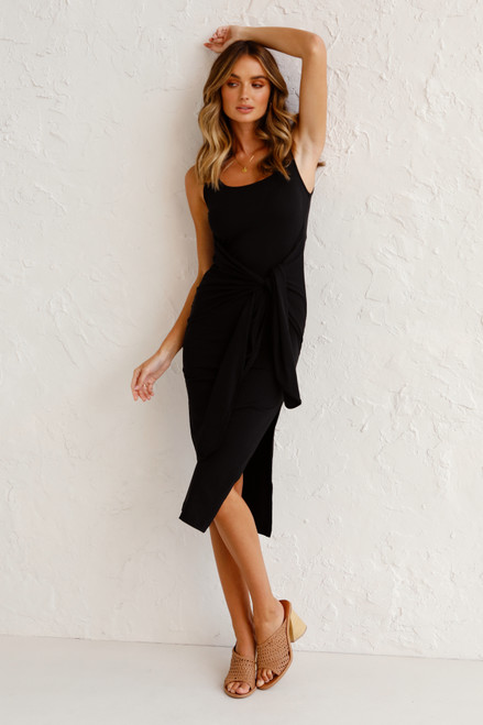 Stassi Midi Dress BLACK